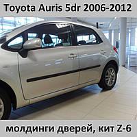 Молдинги на двери Toyota Auris 5 dr 2006-2012, фото 1