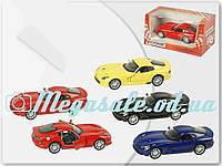 Машинка железная инерционная Kinsmart Dodge Viper 1:36: 4 цвета