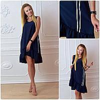 Платье, модель 790, цвет - темно синий, фото 1