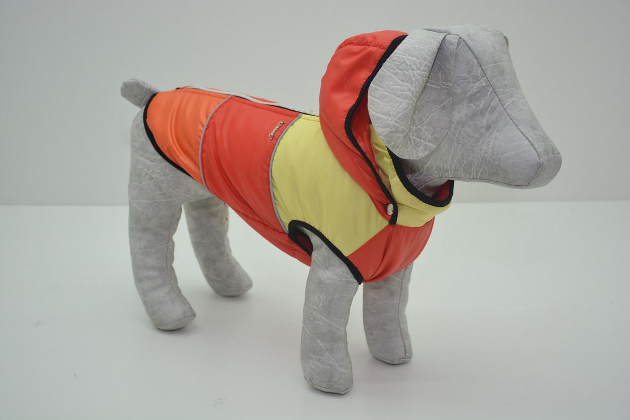 Жилет Трио с капюшоном для собак красный