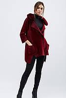 Демисезонное пальто с отделкой из искусственного меха e7a4a737849fa