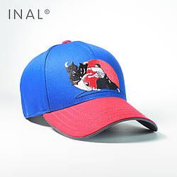 Кепка бейсболка, Aikido, Хлопок, Электрик, Inal