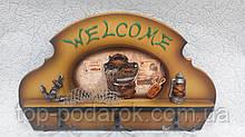 Ключница настенная деревянная «Добро пожаловать» размер 32*21