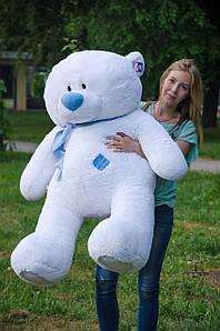 Великий плюшевий ведмедик Тедді 140см. сірий, білий, персик, коричневий