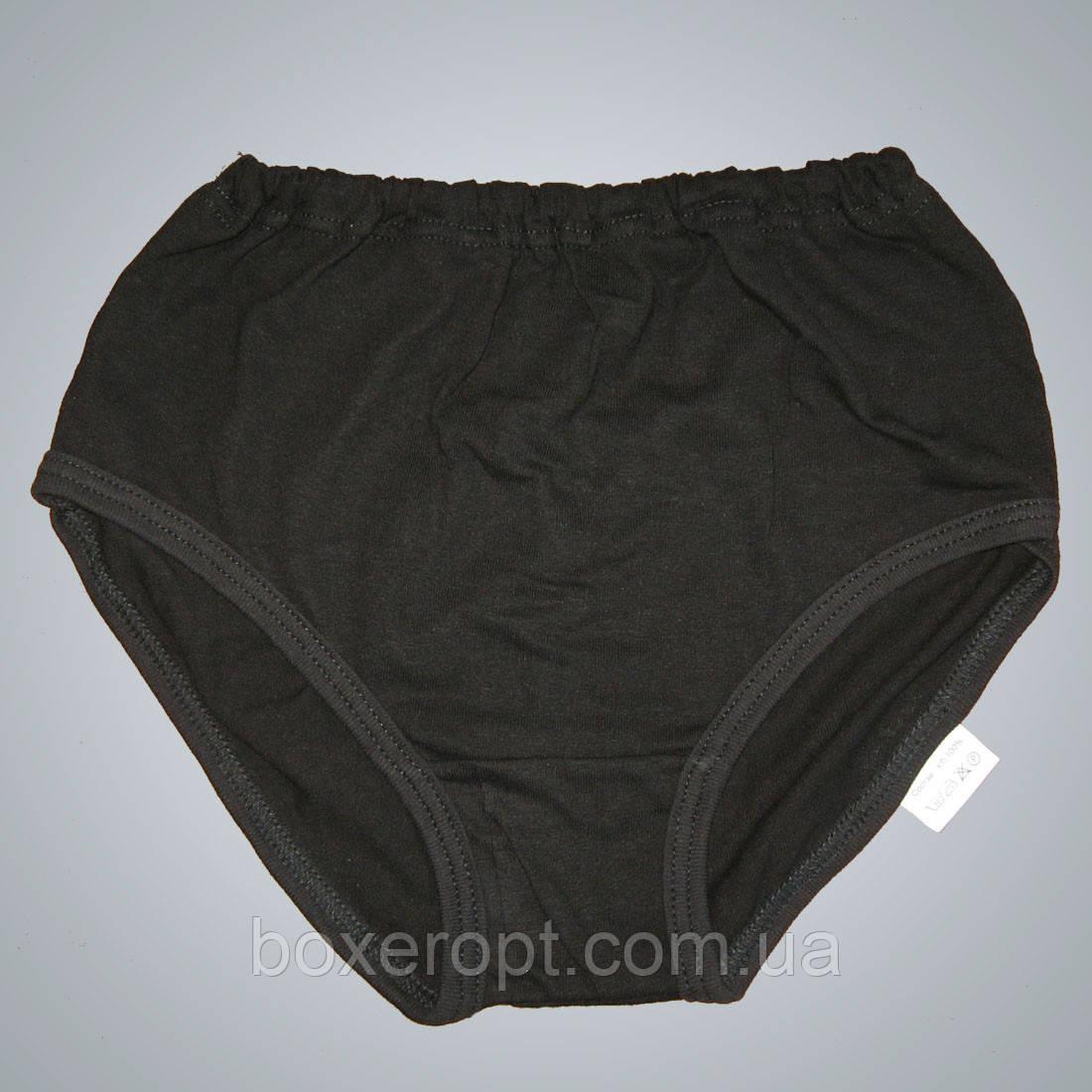 Плавки женские трикотажные (чёрные)