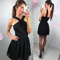 """Платье """"Валенсия"""", 3 цвета; черное"""