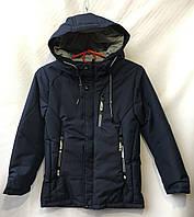 Куртка демисезоннаядетскаядля мальчика 7-11лет,тёмносиняя, фото 1