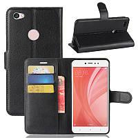 Чехол для Xiaomi Redmi Note 5A / Note 5A Pro / 5A Prime книжка кожа PU черный