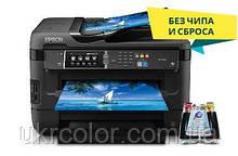 МФУ Epson WorkForce WF-7620 ( формат А3+ ) + СНПЧ + 4х100 мл сублимационные чернила InkTec