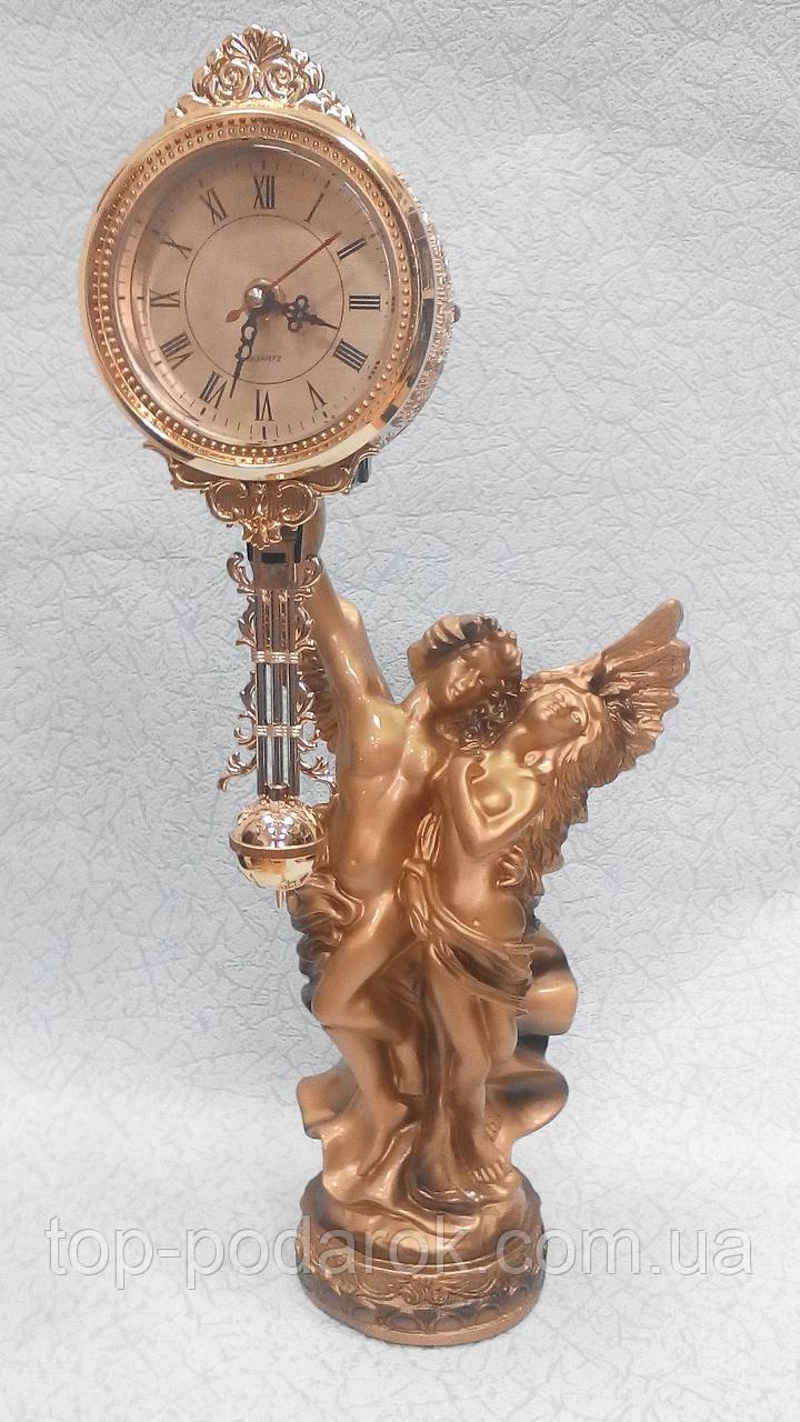 Статуэтка-часы влюбленные ангелы высота 48 см