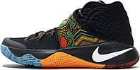 """Баскетбольные высокие кроссовки Nike Kyrie 2 BHM """"Black/Multi-Color"""" (Найк) черные"""