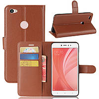 Чехол для Xiaomi Redmi Note 5A / Note 5A Pro / 5A Prime книжка кожа PU коричневый