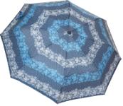 Женский складной зонт автомат (голубой)