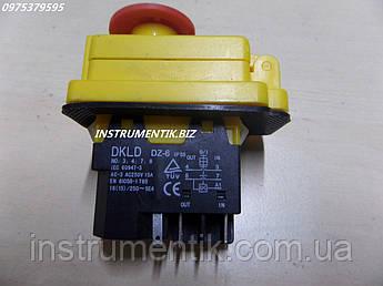 Пускова кнопка пускстоп dkld dz-6 до бетономішалки 130, 155, 190 л