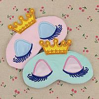 Маска для сна в короне Розовая
