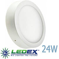 LED панель LEDEX круг 24W накладной 3000/4000/6500К