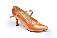Туфли для танцев  женские Стандарт цвет светло-бежевый 23,5р  5 см