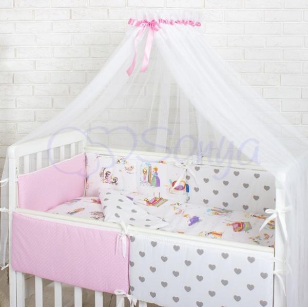 Комплект детского постельного белья Comfort Сказочные принцессы 7 пр.