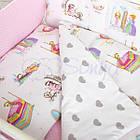 Комплект детского постельного белья Comfort Сказочные принцессы 7 пр., фото 3