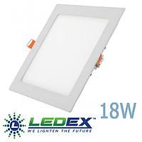 LED панель LEDEX квадрат 18W врезной 3000/4000/6500К