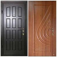 Дверь металлическая входная, тип МДФ 16/МДФ 16 Vinorit (уличная)