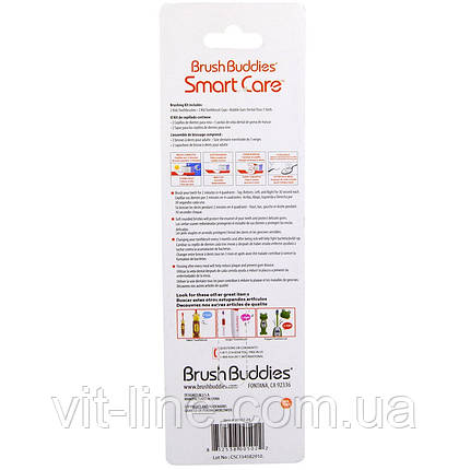 Brush Buddies, Smart Care, детская зубная щетка, 4 шт, фото 2