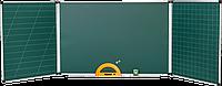 Доска школьная 5 поверхностей 1х4 м.