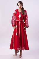 Длинное красное платье Ясные зори, фото 1