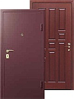 Дверь металлическая входная, тип Порошок/МДФ 10