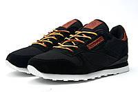 Стильные мужские кроссовки Reebok Cassic, черные , фото 1