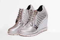 Женские ботинки.Серебро(38)
