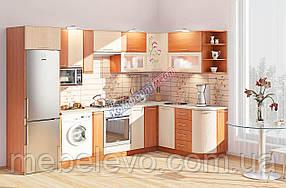 Комфорт Хай-Тек кухня КХ-256 ольха + дуб молочный 3.23 х 1.7 м