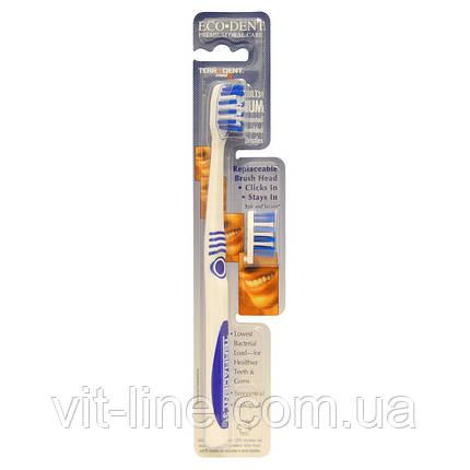 Eco-Dent, Terradent Med5 зубная щетка для взрослых средней жесткости, 1 зубная щетка, 1 запасная насадка, фото 2