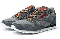 Стильные мужские кроссовки Reebok Cassic, серые, фото 1