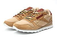 Стильные мужские кроссовки Reebok Cassic, коричневые