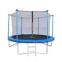 Батут Malatec диаметром 252см (8ft) спортивный для детей с внутреней сеткой и лестницей
