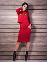 Легкий костюм: кофта+юбка