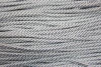 Шнур 5мм спираль (100м) белый+серебро