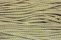 Шнур 5мм спираль (100м) белый+золото
