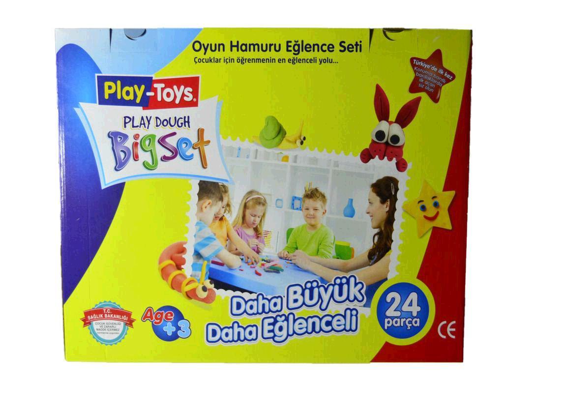 Набір для творчості Play-Toys Великий набір Bigset Play Dough: маса для ліплення + інструменти (42188)