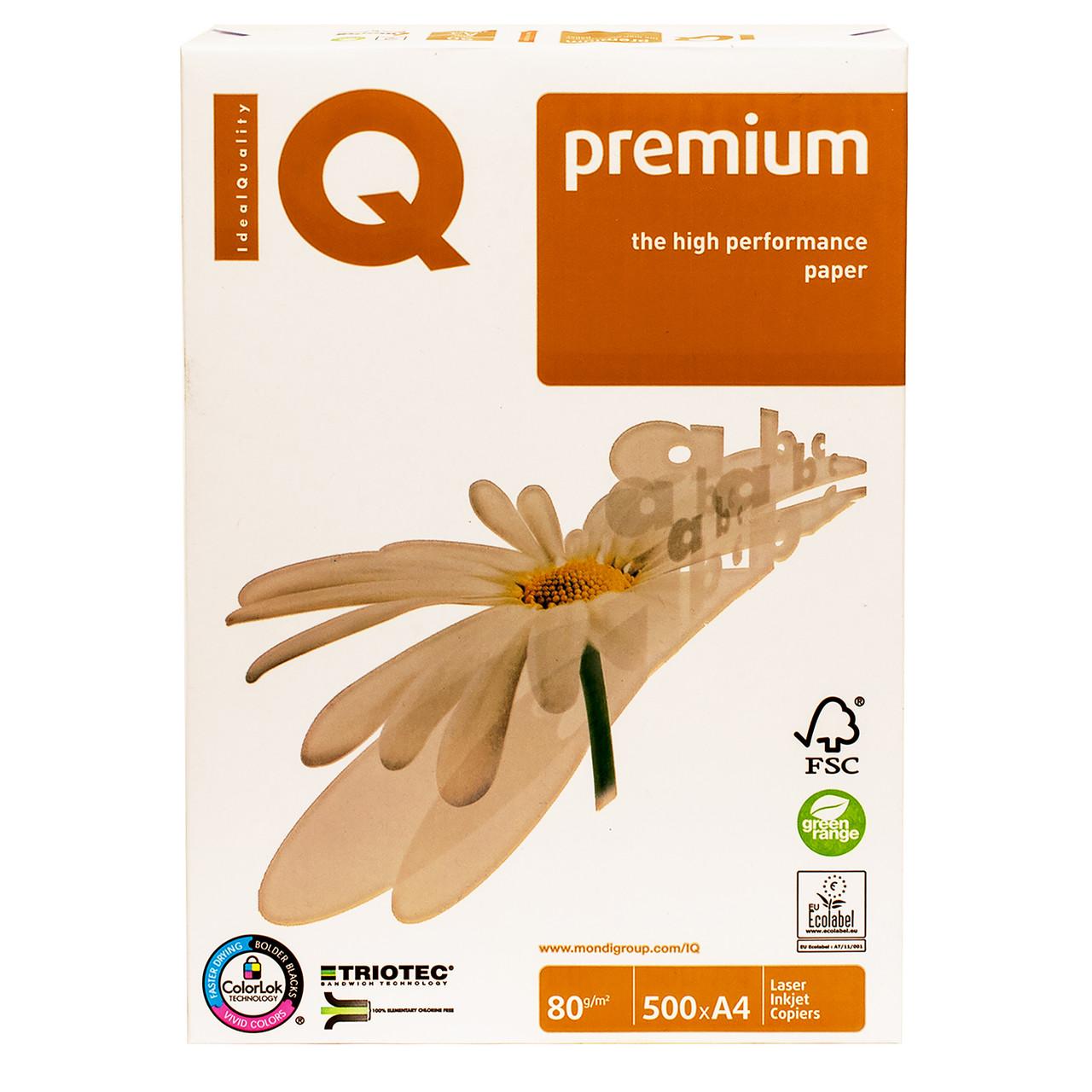 Бумага А4 80 IQ Premium / класс А