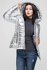 Женская демисезоная куртка (цвете золото, никель, серебро) MT-186, фото 2