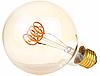 """Лампа Эдисона светодиодная G95 4W шар диммируемая """"горизонтальная спираль"""""""