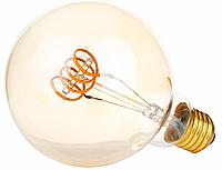 """Лампа Эдисона светодиодная G95 4W шар диммируемая """"горизонтальная спираль"""", фото 1"""