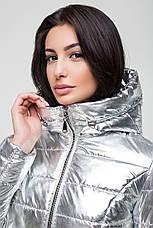 Женская демисезоная куртка (цвете золото, никель, серебро) MT-186, фото 3