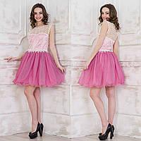 "Рожеве ошатне, випускне плаття пишне ""Августина"", фото 1"