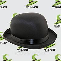 Шляпа Котелок атласный  Черный