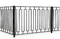 Забор секционный металлический | Ограждения секционные из металла