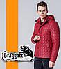 Braggart 1386   Ветровка мужская весенне-осенняя красный
