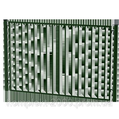 Забор металлический для дачи | Забор на дачу недорого | Цена забора дачного от производителя
